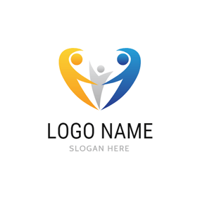 Shape and Abstract Family logo design