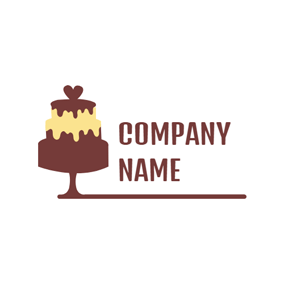 Shape and Chocolate Cake logo design