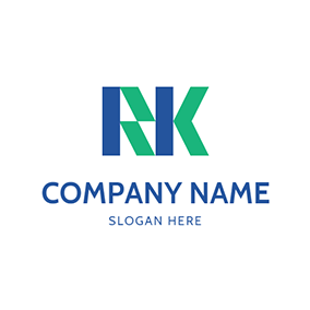 Shape Figure Letter R K logo design