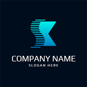 Shape Stripe Abstract Letter S K logo design