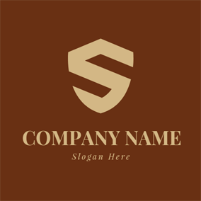 Shield and Letter S logo design
