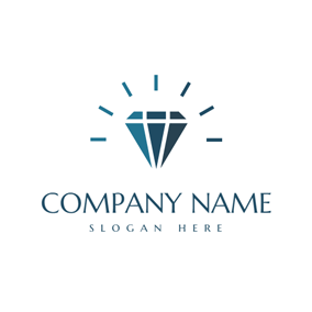 Shiny Dark Green Diamond logo design