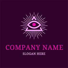 Shiny Triangle Eye Alchemy Logo logo design