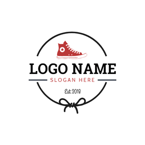 Shoelace and Sneaker Shoe logo design