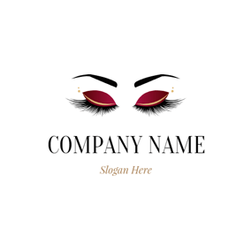 Showy Eyebrow and Eyelash logo design