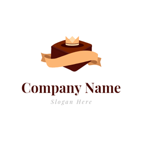 Silk Ribbon and Brownie logo design