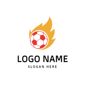 Simple Afire Football logo design