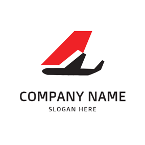 Simple Airfoil and Airplane logo design