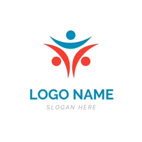 Simple and Abstract Person logo design