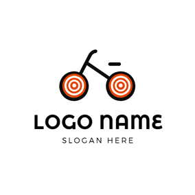 Simple and Flat Bike logo design