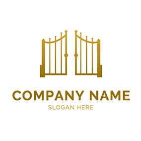 Simple and Great Iron Gate logo design