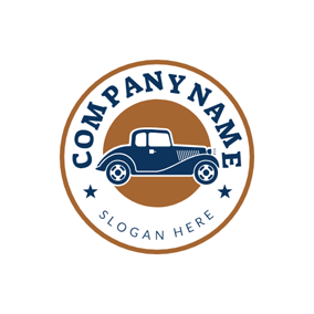 Simple Badge and Car logo design