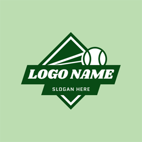 Simple Black Badge and Softball logo design