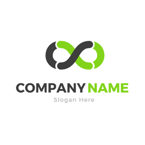 Simple Black Infinity logo design