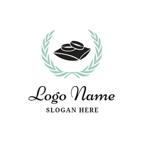 Simple Black Wedding Ring logo design