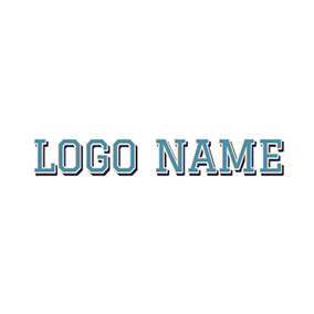 Simple Blue and Beautiful Cool Text logo design