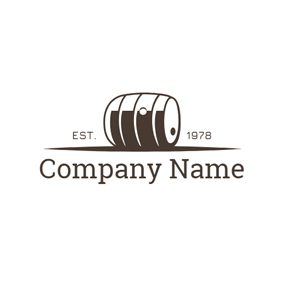Simple Brown Cast Barrel logo design