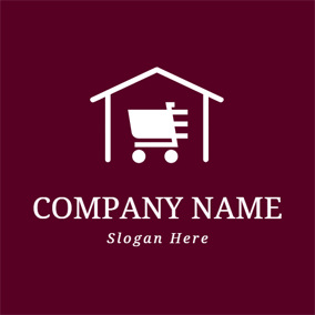 Simple Cart and Shopping Mall logo design