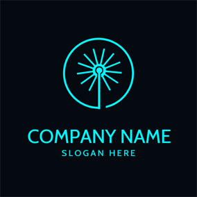 Simple Circle and Laser logo design