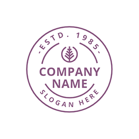 Simple Circle Stamp logo design