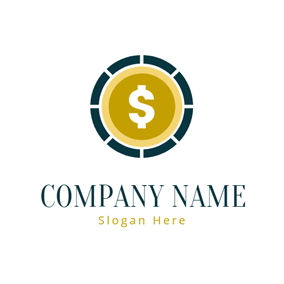 Simple Coin Icon logo design