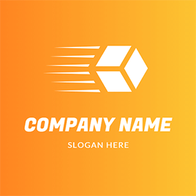 Simple Cube Quadrangle Courier logo design