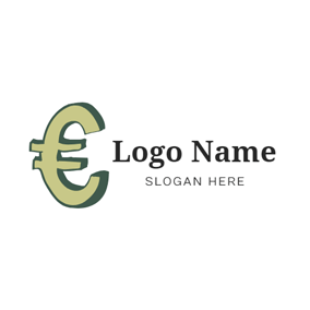 Simple Dimensional Euro Symbol logo design
