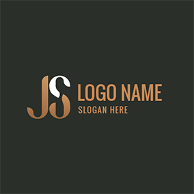 Simple Division Letter J S logo design