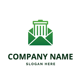 Simple Envelope Bin logo design