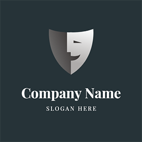 Simple Face Smile Funny logo design