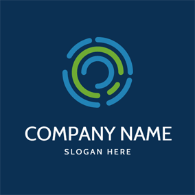Simple Fingerprint Lock logo design