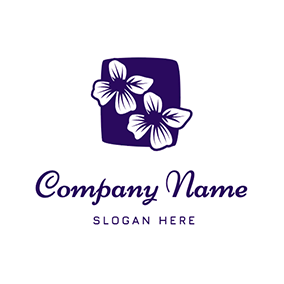 Simple Flower Lavender logo design