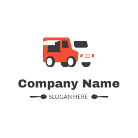 Simple Food Truck Outline logo design