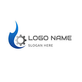 Simple Gear and Oil logo design