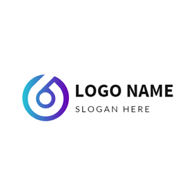 Simple Gradient Color Circle logo design