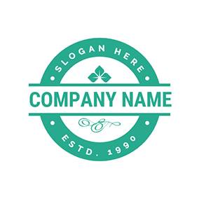 Simple Green Stamp logo design