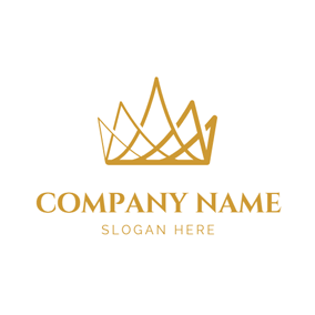 Simple Gridding Crown logo design