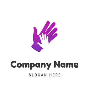Simple Hand Outline Hello logo design