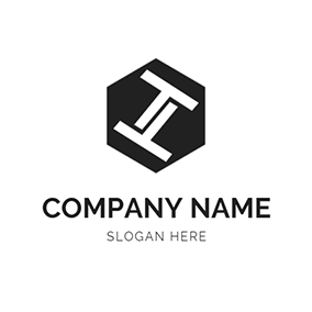 Simple Hexagon Letter T T logo design
