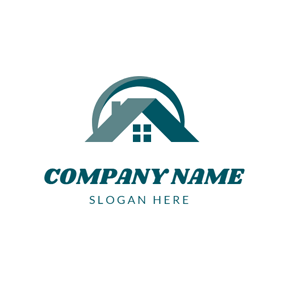 Simple House and Roof logo design