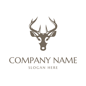 Simple Impala and Beautiful Horn logo design