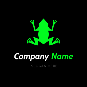 Simple Iridescent Frog logo design