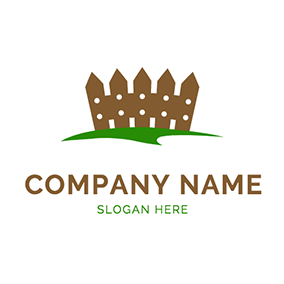 Simple Lawn Cute Fence logo design