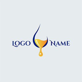 Simple Line and Drop Shaped Oil logo design