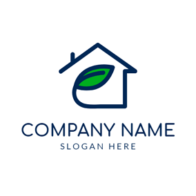 Simple Line and Roof logo design
