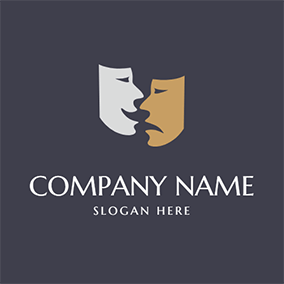 Simple Mask Actor and Comedy logo design