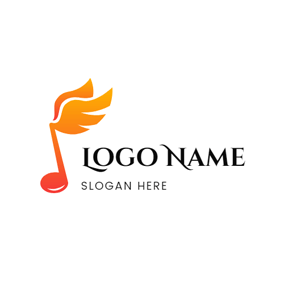 Simple Note and Beautiful Wings logo design