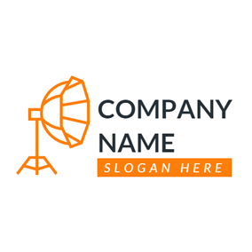 Simple Orange Floodlight logo design