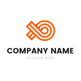 Simple Orange Line and Fish logo design