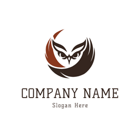 Simple Owl and Raptor logo design